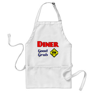 Diner Good Grub Hamburger Restaurant Art Aprons