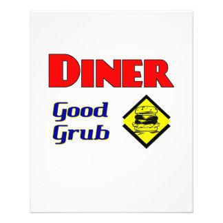 Diner Good Grub Hamburger Restaurant Art 11.5 Cm X 14 Cm Flyer