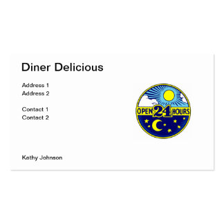 Diner Open 24 Hours Business Cards