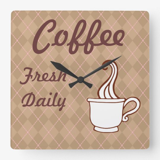Diner Sign Coffee Wall Clock Kitchen Gift