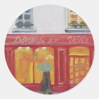 """""""Diners en Ville"""" Round Sticker"""