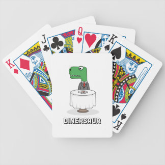 Dinersaur Bicycle Playing Cards