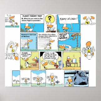 Ding Duck Aviation Cartoon Poster