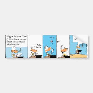 Ding Duck Flight Theory Class Bumper Sticker