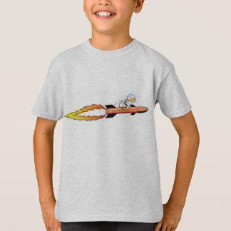 Ding Duck Rocket Cartoon T-Shirt