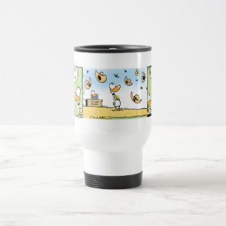 Ding Duck Windy Day Cartoon Stainless Steel Travel Mug