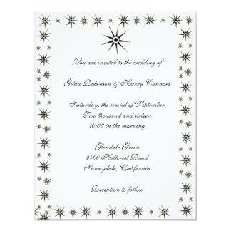 Dingbat Stars Wedding Invitation