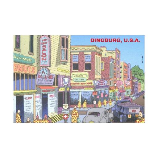 Dingburg, U.S.A. Stretched Canvas Prints