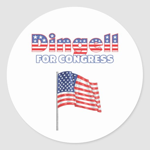 Dingell for Congress Patriotic American Flag Stickers