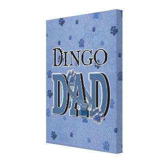 Dingo DAD Stretched Canvas Print