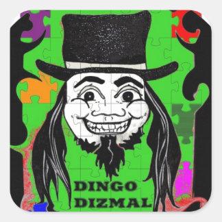 DINGO the CLOWN Square Sticker