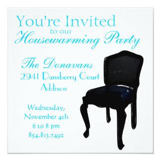 Dining Chair as Housewarming 13 Cm X 13 Cm Square Invitation Card