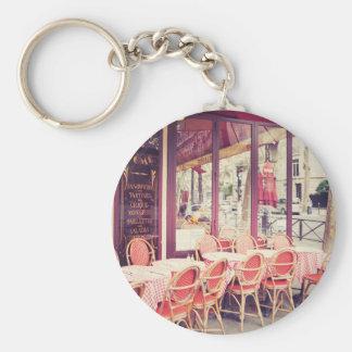 Dining In Paris Al Fresco Basic Round Button Key Ring