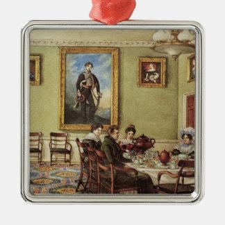 Dining room at Langton Hall Christmas Ornament