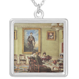 Dining room at Langton Hall Silver Plated Necklace