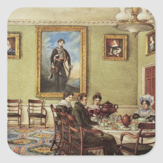 Dining room at Langton Hall Square Sticker