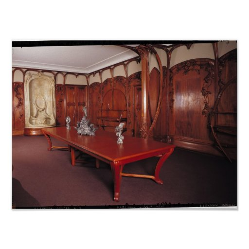 Dining room belonging to adrien benard posters zazzle for Dining room posters