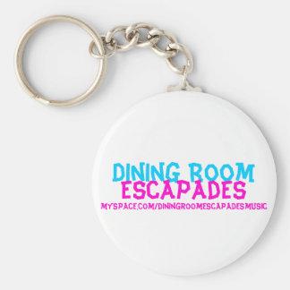 Dining Room, Escapades, myspace.com/diningroome... Basic Round Button Key Ring