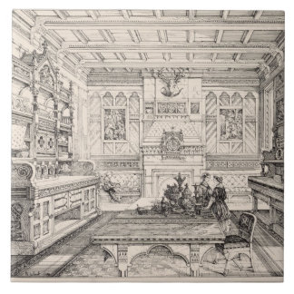 Dining Room, from 'Examples of Ancient and Modern Tile