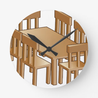 Dining Room Table Icon Round Wallclock