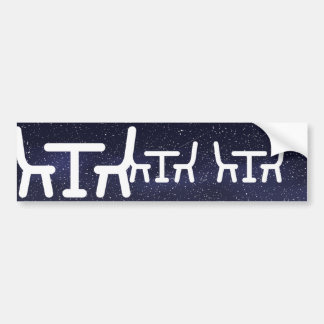 Dining Rooms Icon Bumper Sticker
