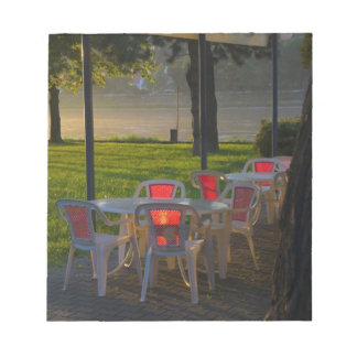 Dining table and chairs by the Danube River, Notepad