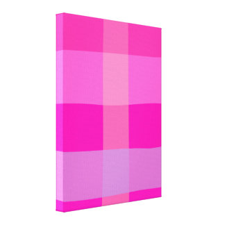Dining Table Pink Gallery Wrap Canvas