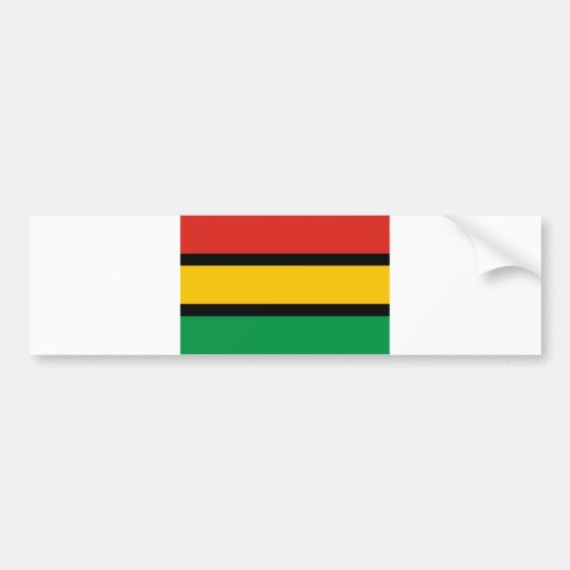 Dinka ethnic flag sudan bumper sticker