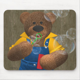 Dinky Bear: Blowing Bubbles Mouse Mat