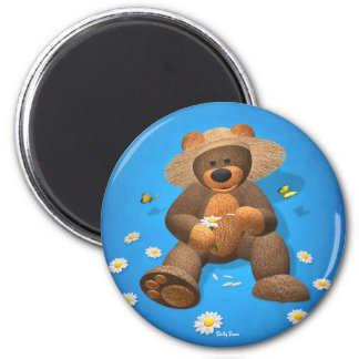 Dinky Bear in Love 6 Cm Round Magnet
