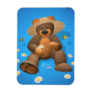 Dinky Bear in Love Rectangle Magnets