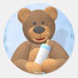 Dinky Bears Babyboy Round Sticker
