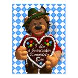 Dinky Bears Bavarian Cuddle Bear Postcard