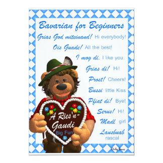 Dinky Bears Bavarian for Beginners 13 Cm X 18 Cm Invitation Card