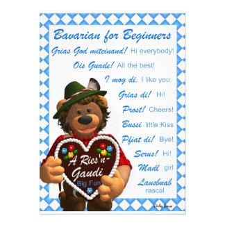 Dinky Bears Bavarian for Beginners Announcement