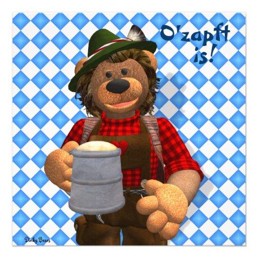 Dinky Bears Bavarian Oktoberfest Bear Personalized Announcements