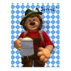 Dinky Bears Bavarian Oktoberfest Bear Postcard