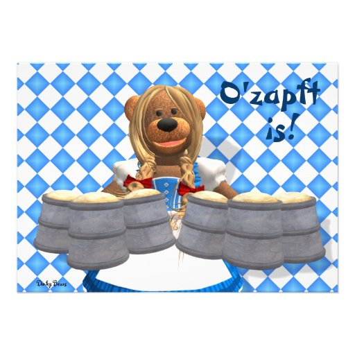 Dinky Bears Bavarian Oktoberfest Zenzi Personalized Announcements