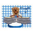 Dinky Bears Bavarian Oktoberfest Zenzi Postcard