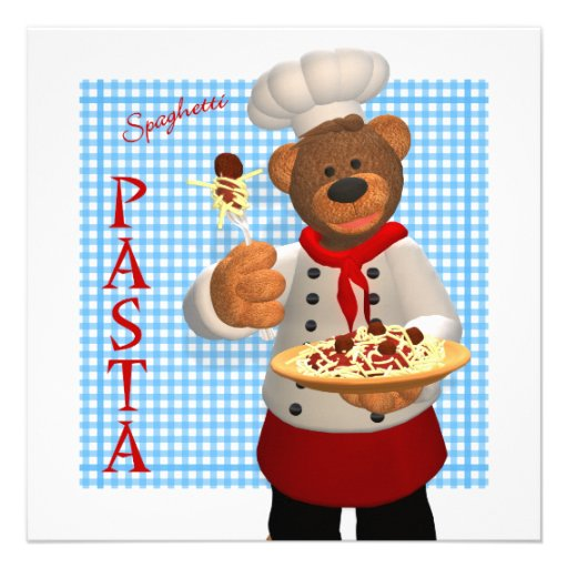 Dinky Bears Chef: Pasta Invite