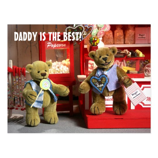 Dinky Bears: Daddy is the best! Postcard