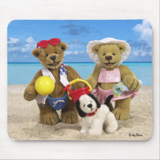 Dinky Bears Day at the Beach Mouse Pad