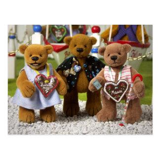 Dinky Bears: Funfair Postcard