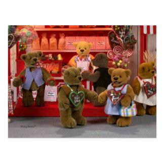 Dinky Bears Funfair Postcard