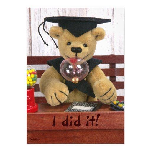 Dinky Bears: Graduation Announcements
