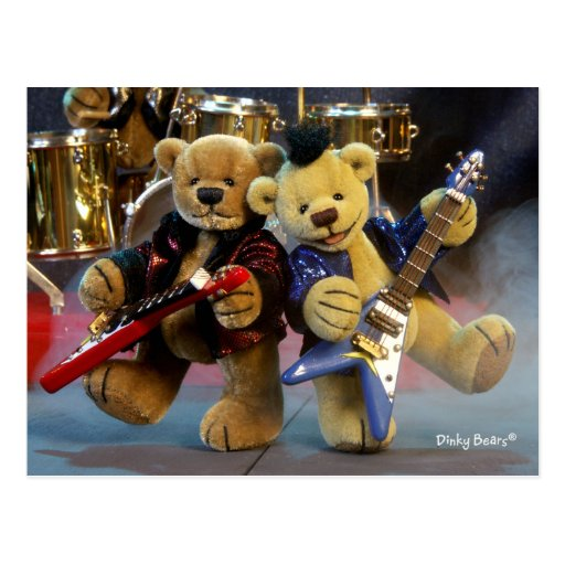 Dinky Bears: Guitar Duet Post Card