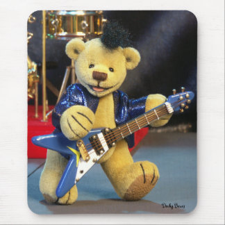 Dinky Bears Guitarist Mouse Pad