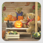 Dinky Bears Halloween Time Square Stickers