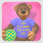 Dinky Bears: Life is a Game Square Stickers