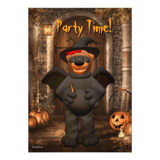 Dinky Bears Little Bat Custom Invitations